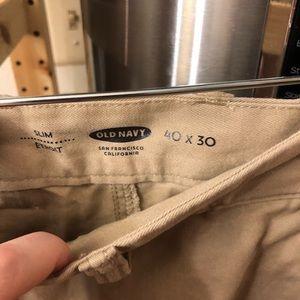NWOT old navy slim khakis 40x30